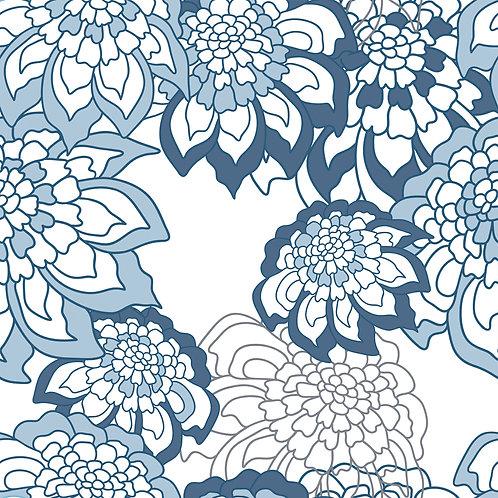 Керамическая плитка Colibri Blu Dec.D4 12,5 × 12,5 см