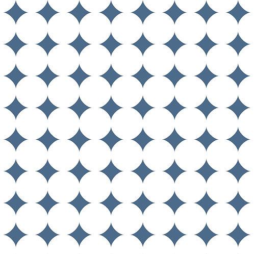 Керамическая плитка Colibri Blu Dec.C7 12,5 × 12,5 см