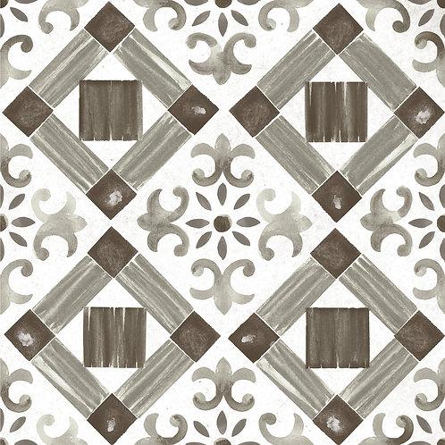 Керамогранит Maiolica Black pattern #4 60 × 60 см