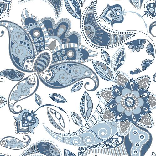 Керамическая плитка Colibri Blu Dec.B1 12,5 × 12,5 см
