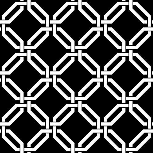 Керамическая плитка Colibri Nero Dec.B7 12,5 × 12,5 см