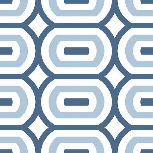 Керамическая плитка Colibri Blu Dec.D1 12,5 × 12,5 см