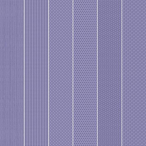 Керамогранит Vibration Purple (6 patterns) 10 х 60 см
