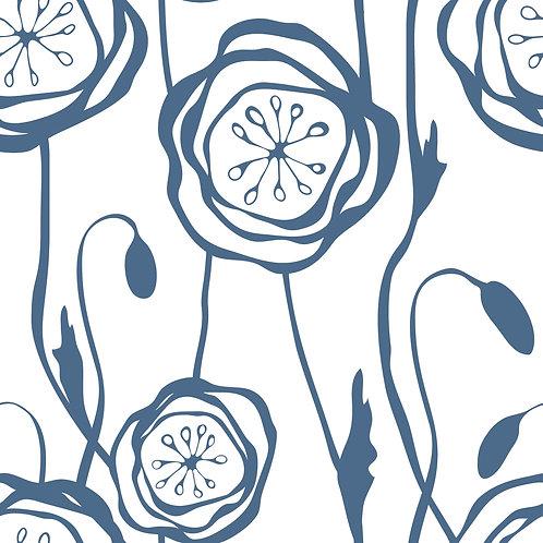 Керамическая плитка Colibri Blu Dec.C1 12,5 × 12,5 см