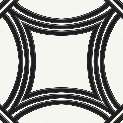 Керамогранит Touch#02 Black On White 20 х 20 см