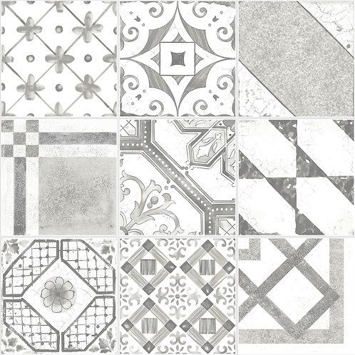 Керамогранит Maiolica Grey mix (9 patterns) 20 × 20 см