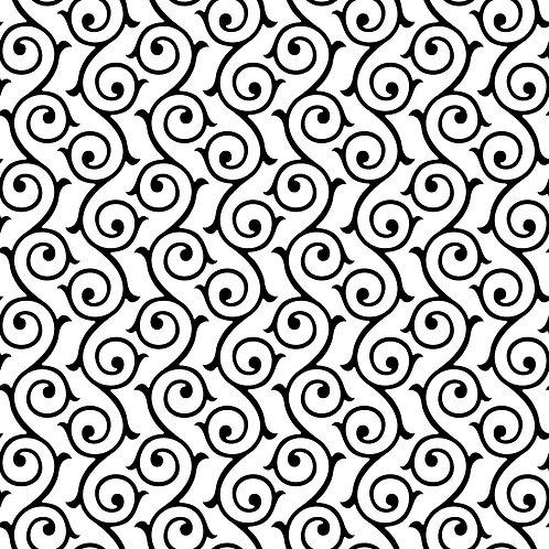 Керамическая плитка Colibri Nero Dec.E3 12,5 × 12,5 см