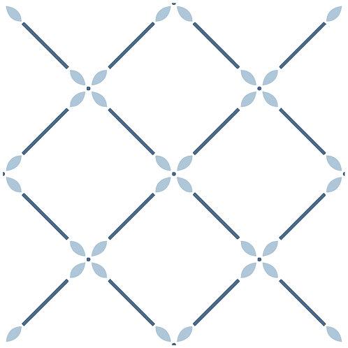 Керамическая плитка Colibri Blu Dec.A6 12,5 × 12,5 см