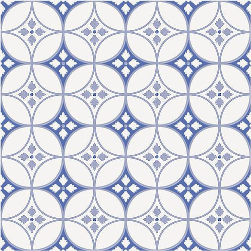 Керамогранит City Glamour Blue On White Base #04 60 х 60 см