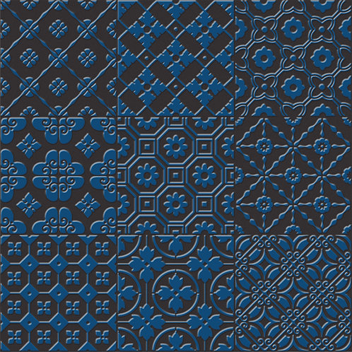 Керамогранит Bon Ton Blue On Black Base 20 х 20 см