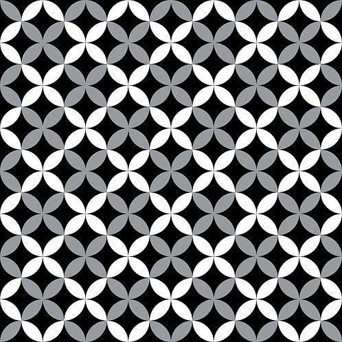 Керамическая плитка Colibri Nero Dec.E2 12,5 × 12,5 см