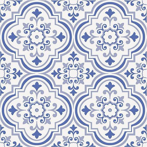 Керамогранит City Glamour Blue On White Base #02 60 х 60 см