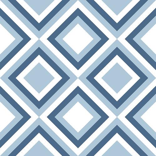 Керамическая плитка Colibri Blu Dec.D2 12,5 × 12,5 см