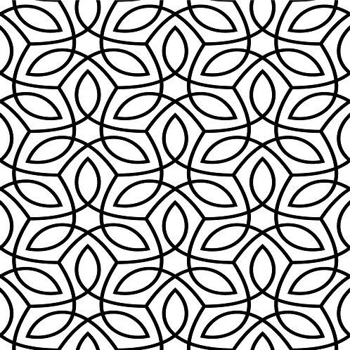 Керамическая плитка Colibri Nero Dec.A2 12,5 × 12,5 см