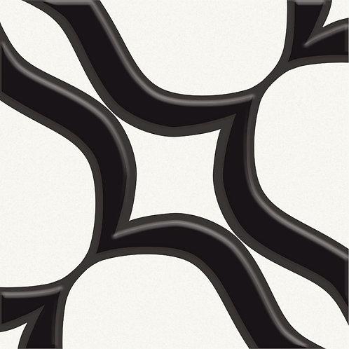 Керамогранит Touch#04 Black On White 20 х 20 см
