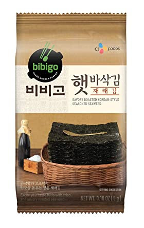 Korean seaweed roasted bibigo snack CJ 5g
