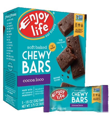 ENJOY LIFE CHEWY BAR COCOA 165g