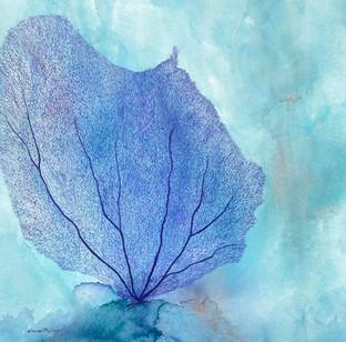 Purple Coral  Watercolour Sold