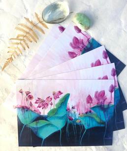 Enchanted River Blooms postcard