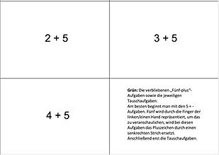 Lernkarten Mini-Einspluseins - schwarz-w