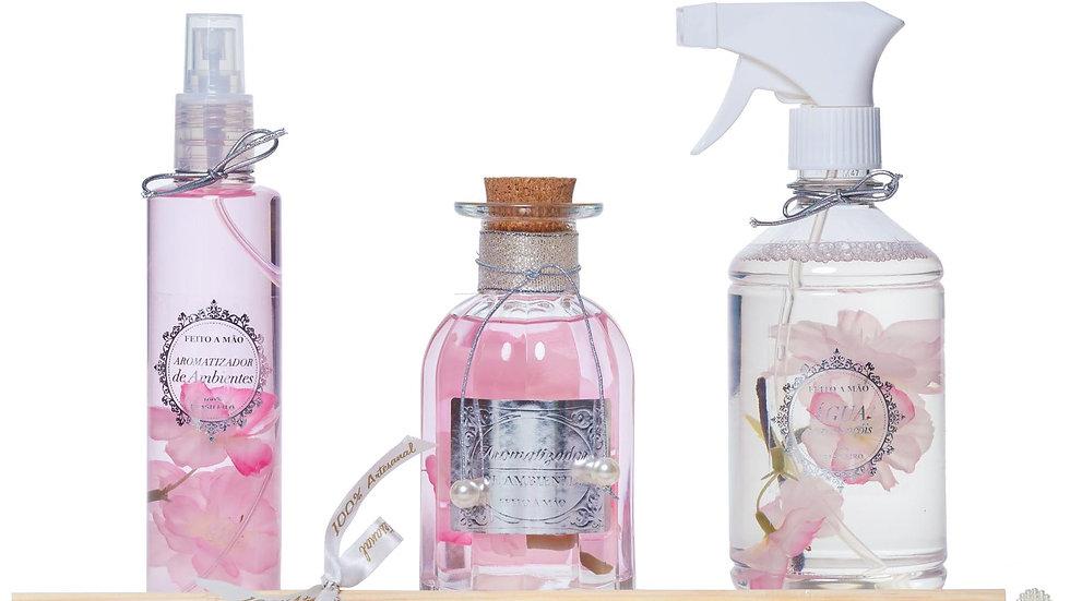 Kit3 Flor de Cerejeira e especiarias -home, difusor e água perfumadaada