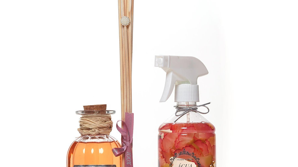 Kit 2 Madeira do Oriente -Difusor de Aromas (250 ml) e Água Perfumada (500 ml)