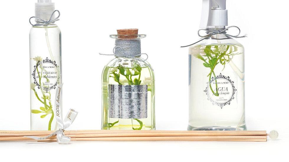 kit 3 Bamboo:  home spray (200 ml), difusor (250 ml) e água perfumada (500 ml)