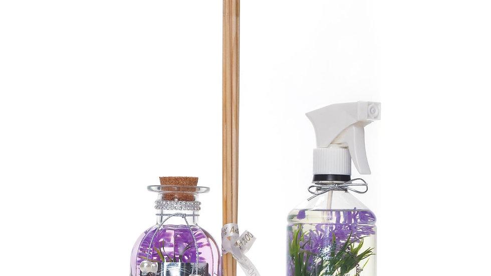 Kit 2 Lavanda:- Difusor (250 ml) e Água Perfumada (500 ml)