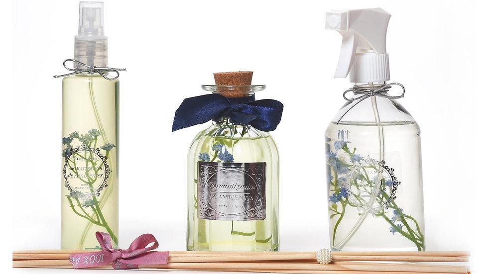 Kit 3 Alecrim & Capim Limão  (200), Difusor (250) e Água Perfumada (500)