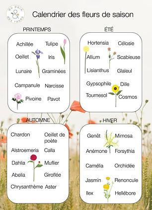 Du Pain & des Roses - Calendrier des fle