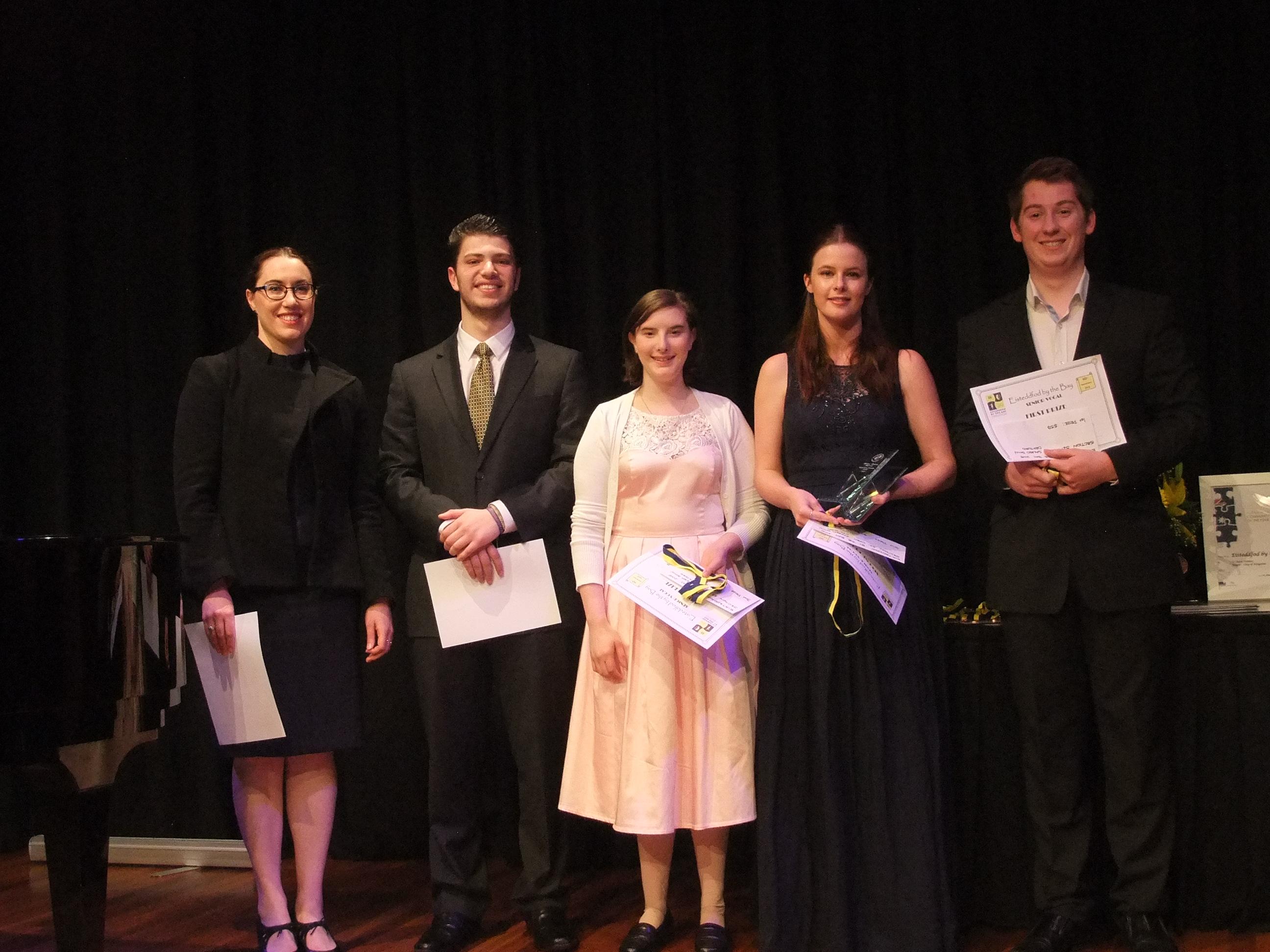 2015 Sacred Solo/ Oratorio winners