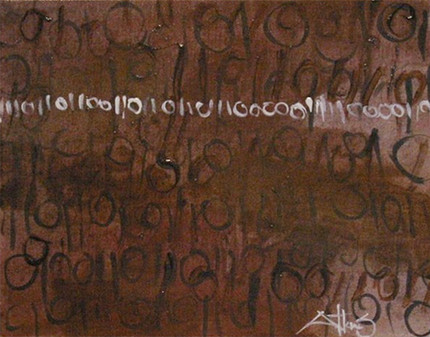 BINARY CODE REGISTERED IN BROWN DYE
