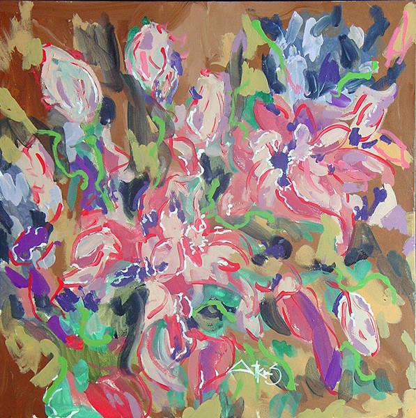 FLOWER -oriental lilly bouquet