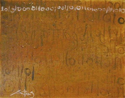 BINARY CODE REGISTERED IN YELLOW DYE