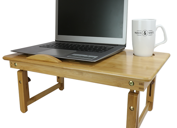 Bamboo Folding Laptop Table Stand