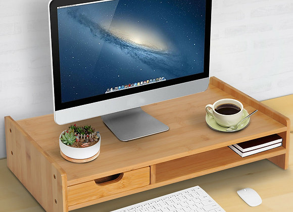 Bamboo Desktop Laptop Monitor Riser