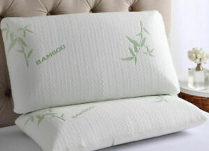 2x Bamboo Memory Foam Pillows Anti-Bacterial Orthopaedic Support