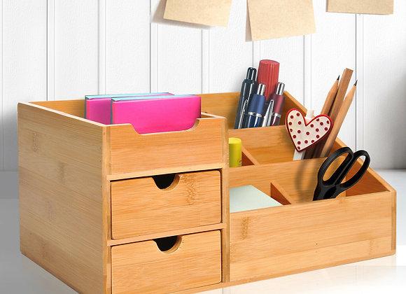 Bamboo Desktop Organiser  Multi-Function Storage Drawers