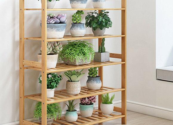 Bamboo Shoe Footwear Organiser Rack Storage Shelves 5 Tier