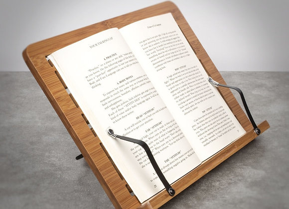 Bamboo Cook Book Stand Holder