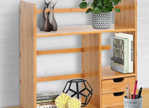 Bamboo Desk Bookshelf Storage Organiser