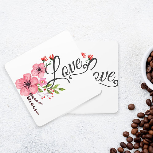 Love | Kit com 6 Porta Copos em Acrílico
