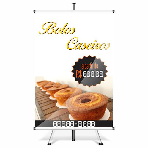 Banner Pronto - Bolo | 40x60 cm