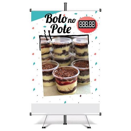 Banner Pronto Bolo no Pote | 40x60 cm