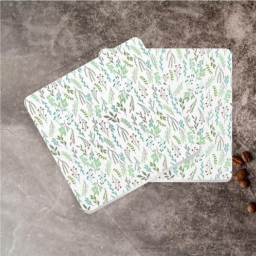 Folhas Verde | Kit com 8 Porta Copos em Acrílico