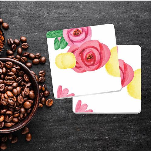 Rosas   Kit com 8 Porta Copos em Acrílico