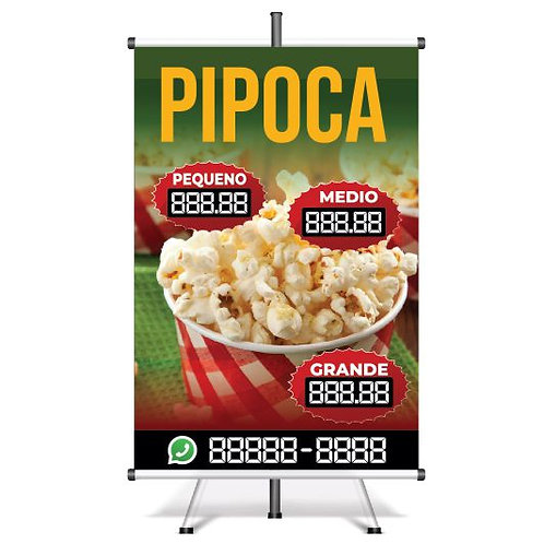 Banner Pronto Pipoca | 40x60 cm