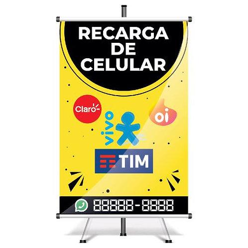Banner Pronto Recarga de Celular | 40x60 cm