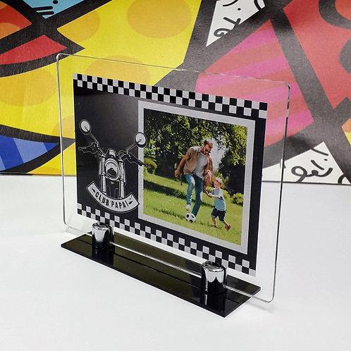Porta-retrato em acrílico - Moto - Dia dos Pais