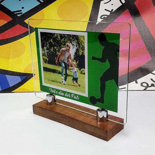 Porta-retrato em acrílico - Futebol e Jogador - Dia dos Pais